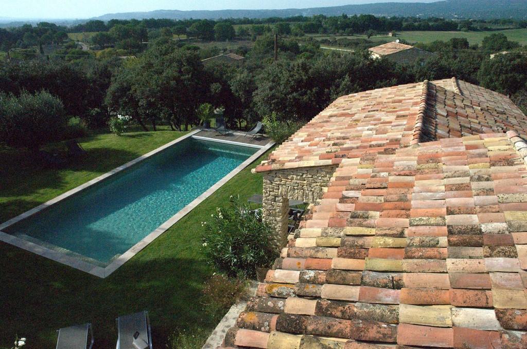 Piscine chauffee 4 les terrasses gordes luberon provence - Chambre et table d hote luberon ...